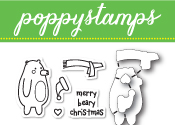 CB438 Beary Christmas clear stamp and die set