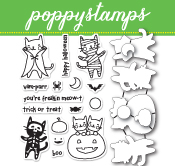 CB461 Halloween Costume Cats clear stamp and die set