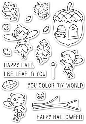 autumn fairies clear stamp set