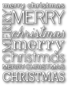 1065 Merry Christmas Background craft die