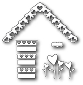 1172 Love Cottage Roof and Decor craft die