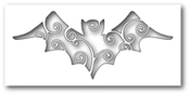1247 Swirly Bat Cutout craft die