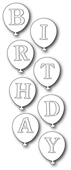 1470 Birthday Balloons craft die