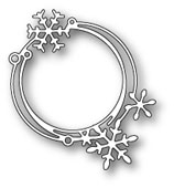 1599 Scribble Snowflake Circle craft die