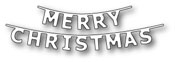 1609 Merry Christmas Banner craft die