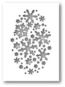 1610 Snowflake Oval Collage craft die