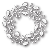 1646 Home for the Holidays Wreath craft die