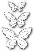 1798 Stitched Butterfly Trio craft die