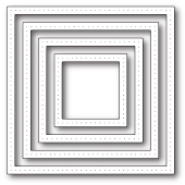 1935 Pointed Square Frames craft die
