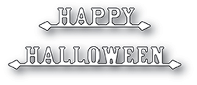 1950 Happy Halloween Signs craft die