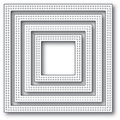 2000 Double Stitch Square Frames craft die