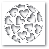 2023 Tumbled Heart Collage craft die