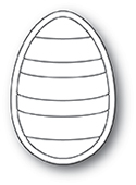 2030 Striped Egg craft die