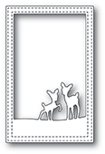2077 Playful Deer Stitched Frame craft die
