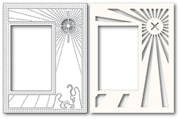 2135 Nativity Scene Sidekick Frame and Stencil craft die