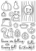 CL409 Falling For You Clear Stamp Set