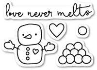 CL418 Love Never Melts clear stamp set