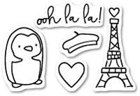 CL420 Ooh La La clear stamp set