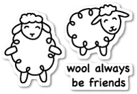 CL423 Wool Be Friends clear stamp set