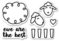 CL424 Ewe Are the Best clear stamp set