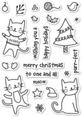 CL431 Purrfect Holidays Clear Stamp Set