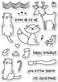 CL435 Christmas Friends Clear Stamp Set