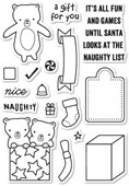 CL436 Naughty or Nice Clear Stamp Set
