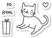CL437 Kitty Cat Gift Clear Stamp Set