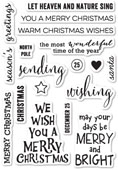 CL439 Christmas Greetings Clear Stamp Set