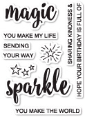 CL453 Magic and Sparkle clear stamp set