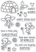 CL458 Wintertime Fairies clear stamp set