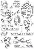 CL459 Autumn Fairies clear stamp set