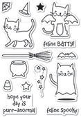 CL460 Feline Spooky clear stamp set