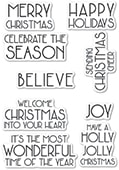 CL471 Art Deco Celebrate Christmas clear stamp set