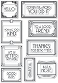 CL472 Art Deco Frames and Phrases clear stamp set