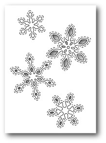 1305 Stitched Snowflake Cutouts craft die