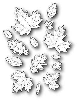 1564 Fall Leaf Collage craft die