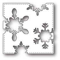 1670 Stitched Snowflake Square craft die