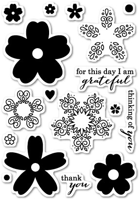 CL427 Flourish Blooms Clear Stamp Set