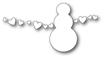 1848 Snowman Love craft die