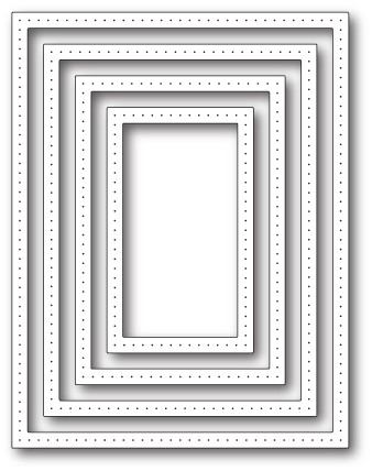 1938 Pointed Rectangle Frames craft die