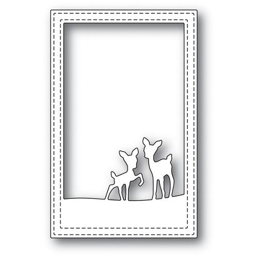 2077 Playful Deer Stitched Frame craft die