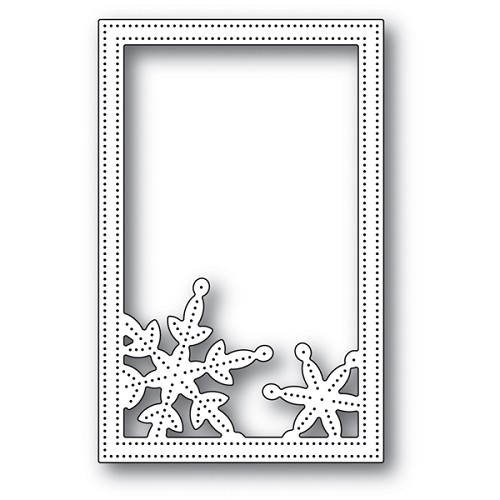 Simple Pinpoint Snowflake Frame