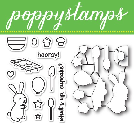 CB425 Cupcake Party clear stamp and die set
