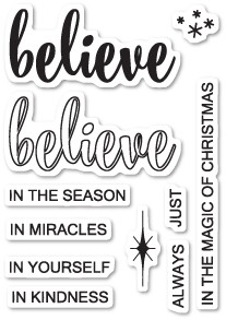 CL456 Do You Believe clear stamp set