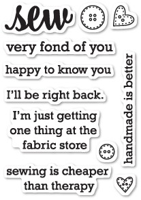 CL457 Sew Fond of You clear stamp set