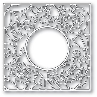 Poppystamps Rose Frame
