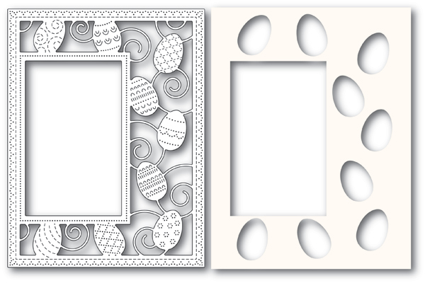Decorated Egg Sidekick Frame and Stencil