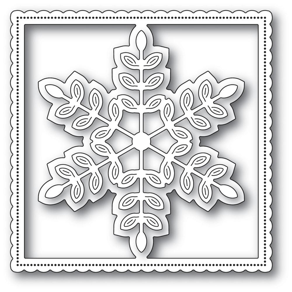2255 Leafy Snowflake Frame craft die