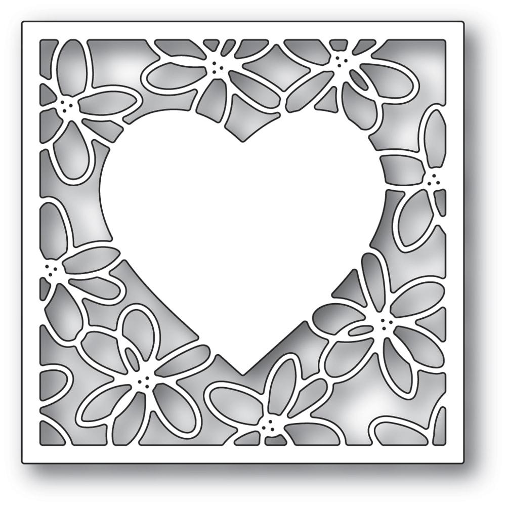 Scribble Daisy Heart Frame